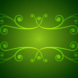 Groene wervelingsachtergrond Stock Afbeelding