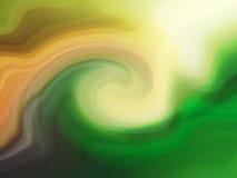 Groene wind met de hand geschilderde abstracte achtergrond Stock Foto