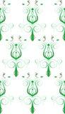 Groene Witte Abstracte Bloem Stock Fotografie