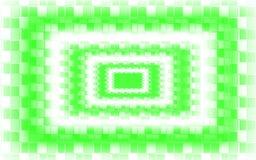 Groene Witte Mozaïekachtergrond - het Groene Behang van het Vierkantenpatroon vector illustratie