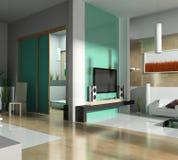 Groene woonkamer Stock Fotografie