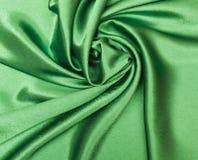 Groene zijde Stock Fotografie