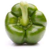 Groene zoete groene paprika die op wit knipsel wordt geïsoleerd als achtergrond Royalty-vrije Stock Foto