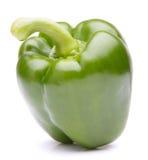 Groene zoete groene paprika die op wit knipsel wordt geïsoleerd als achtergrond Royalty-vrije Stock Foto's