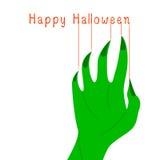Groene zombiehand Stock Foto's