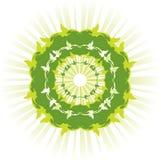 Groene zon vector illustratie