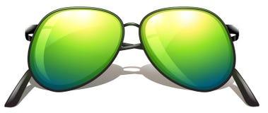 Groene zonnebril vector illustratie