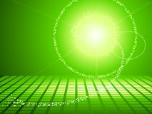 Groene zonnepanelen Stock Afbeelding