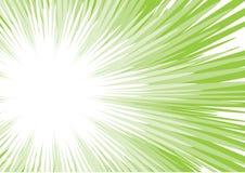 Groene zonstraal Stock Afbeeldingen