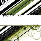 Groene zwarte strepen copyspace achtergrond Stock Afbeelding