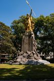 Groeninge纪念碑-金马刺战役,科特赖克,富兰德比利时 免版税图库摄影