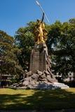 Groeninge monument - striden av det guld- sporrar, Kortrijk, Flanders Belgien Royaltyfri Fotografi