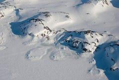 Groenland, bergen en ijsijsschol Stock Fotografie