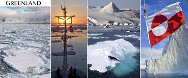 Groenland en het Hoge Noordpoolgebied Stock Foto's
