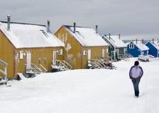 Groenland - Ittoqqortoormiit - Scoresbysund Stock Afbeeldingen