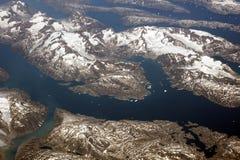 Groenland, luchtmening royalty-vrije stock foto's