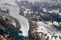 Groenland, luchtmening stock afbeelding