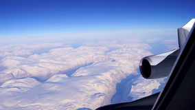 Groenland, luchtmening, vleugelmening royalty-vrije stock foto's
