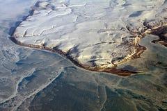 Groenland van de lucht royalty-vrije stock foto's