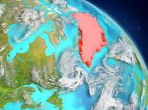 Groenlandia de la órbita stock de ilustración