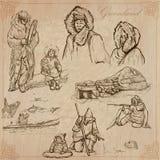 Groenlandia: Viaje en todo el mundo Dibujos del vector Foto de archivo libre de regalías