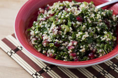Groensalade met bulgur Stock Fotografie