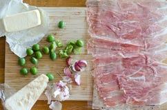 Groente en vlees op hakbord Royalty-vrije Stock Afbeelding