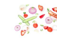Groenten als achtergrond Sluit omhoog Stock Fotografie