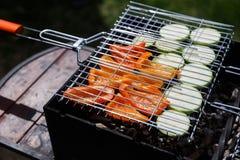 Groenten bij de grill in de zomer Royalty-vrije Stock Foto's
