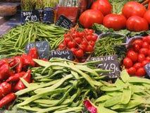 Groenten bij de markt Stock Afbeelding