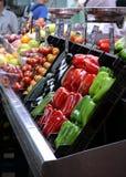 Groenten bij de markt Stock Afbeeldingen