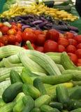 Groenten bij de Markt van de Landbouwer Stock Fotografie