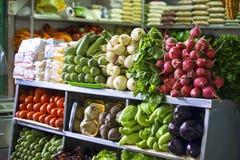 Groenten bij een markt Stock Afbeelding