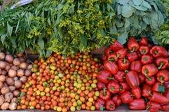 Groenten bij Landbouwers Stock Fotografie