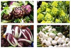 Groenten bij markt Royalty-vrije Stock Afbeeldingen