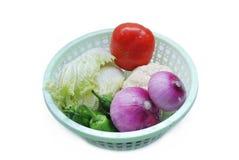 Groenten in de mand Stock Fotografie