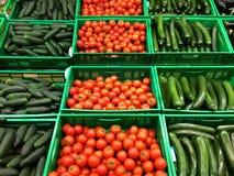 Groenten in de markt Stock Foto