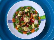 Groenten, decoratie en culinair art. Stock Afbeeldingen