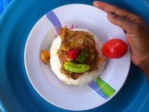 Groenten, decoratie en culinair art. Stock Foto