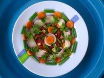 Groenten, decoratie en culinair art. Stock Afbeelding