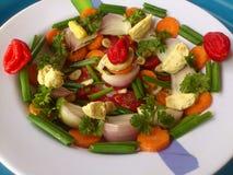Groenten, decoratie en culinair art. Royalty-vrije Stock Afbeelding