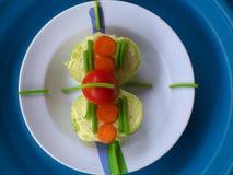 Groenten, decoratie en culinair art. Royalty-vrije Stock Afbeeldingen