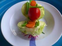 Groenten, decoratie en culinair art. Royalty-vrije Stock Foto