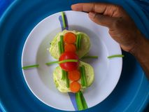 Groenten, decoratie en culinair art. Stock Fotografie