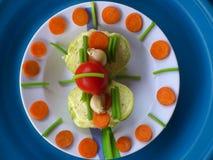Groenten, decoratie en culinair art. Royalty-vrije Stock Fotografie