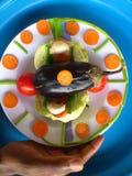 Groenten, decoratie en culinair art. Royalty-vrije Stock Foto's