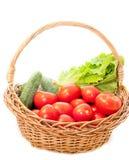 Groenten in een mand Stock Fotografie