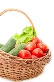 Groenten in een mand Stock Afbeelding
