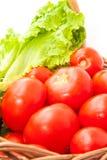 Groenten in een mand Stock Foto's