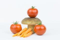 Groenten en boleet 3 Stock Foto's